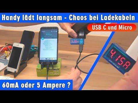 Handy lädt langsam - Chaos bei Ladekabeln USB C und Micro -  schnellladen oder gar nicht