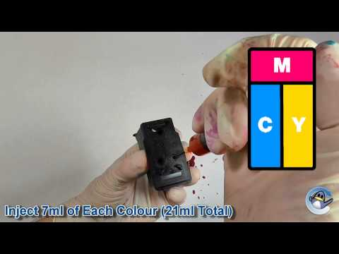 How to Refill Canon CL 541XL (5226B005AA) Colour Ink Cartridge