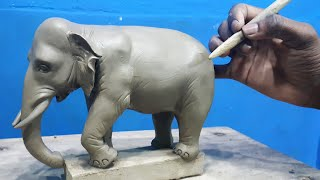 How To Make Clay Elephant || Sculpting An Elephant || Learn Sculpting