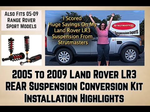 Rear Strut Conversion Installation 2005 2009 Land Rover LR3