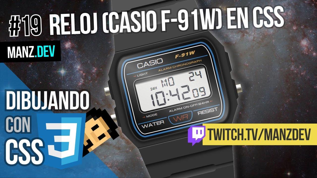 Dibujando un reloj Casio F-91W con CSS