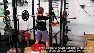 "Johnny ""Baseball"" Developing Hip Strength & Power with Chain Front Squats"