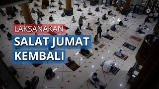 Diizinkan Pemkot, Masjid Agung Al Barkah Bekasi Kembali Gelar Salat Jumat dengan Protokol Kesehatan