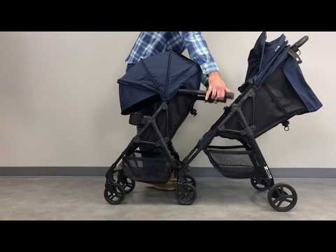 ZOE XL1 BEST v2 TANDEM Double Stroller: Fits in Many Airplane Overhead Bins/Compartments 2018