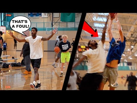 He Got MAD Then Got DUNKED ON! 5v5 Basketball At The Gym!