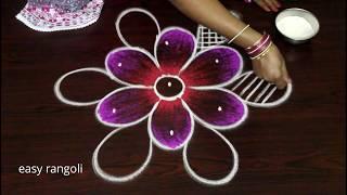Latest Small N Cute Color Rangoli Arts Designs By Suneetha    Easy N Simple Kolam    New Muggulu