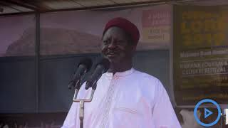 Raila teases Governor Nanok on his remarks of being kicked out of the