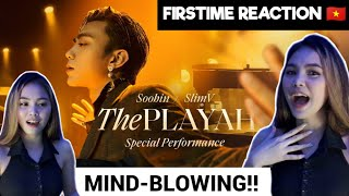 THE PLAYAH - SOOBIN X SLIMV  (Special Performance / Official Music Video)#Reaction #theplayah