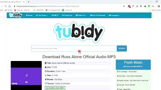 HOW TO DOWNLOAD MP3 TUBIDY