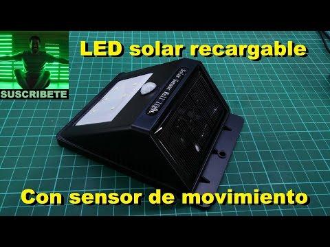 Que tiene adentro? #11: Luz recargable solar con sensor de movimiento