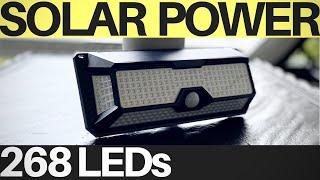 AMAZING Solar Light 268 LED Motion Sensor for OutDoor - SUPER Bright + Water Resistant