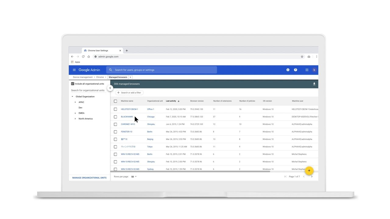 With Chrome, managing browser policies for enterprises is simple, efficient, and comprehensive – especially in the cloud. See how you can use Chrome Browser Cloud Management to apply hundreds of browser policies across different platforms and OS versions from a single console.