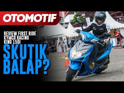 Review First Ride Kymco Racing King 150i, Skutik Balap?