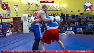 5-ые рейтинговые бои Лига бокса г. Москвы  – 10.12.16 г. до 91+ кг.