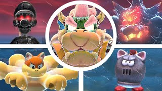 Bowser's Fury All Bosses & Cutscenes (Secret Boss Fights / Battle) [Super Mario 3D World]