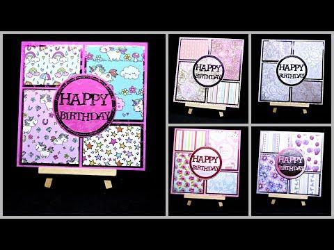 Karten basteln für Geburtstag mit Papier | DIY Ideen Inspiration | Geschenk selber basteln