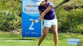 [Slow HD] CHO Yeong-Ran 2013 Driver With Practice Golf Swing (1)_KLPGA Tour