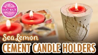 DIY Fall Cement Candle Holders With Sea Lemon - HGTV Handmade