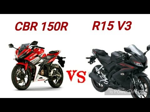Yamaha R15 V3 Vs Honda Cbr 150r New Model 2017 In India Review