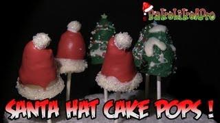 Santa Hat Cake Pops And Christmas Tree Cake Pops Too !