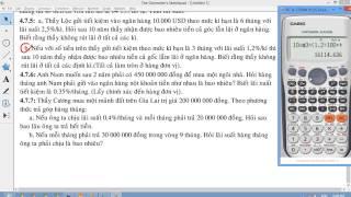 [CHUYÊN ĐỀ CASIO] Chương 7 Lãi suất 2 Các bài toán lãi suất và trả nợ cực kỳ hay và đẹp