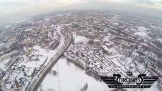 preview picture of video '2015-02-05 Tychy zimą - Stare Tychy Osiedle B - A - Widok na panoramę miasta HD'