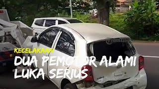 Laka Lantas Terjadi di Jalan Sriwijaya Semarang, Dua Pemotor Alami Luka Serius