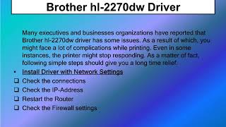 Steps to Fix Brother Printer hl 2270W Drum Light Error