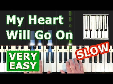 Download My Heart Will Go On - Titanic - VERY EASY SLOW Piano Tutorial - Celine Dion (Synthesia) Mp4 HD Video and MP3