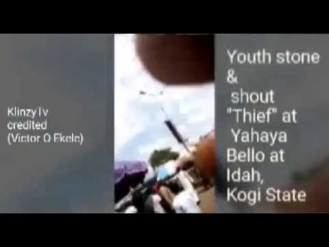 Governor Yahaya Bello stoned by Youth in Idah kogi State