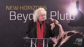 Brian May Speech extract New Horizons Press Conference 31/12/2018