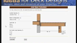 Joist Calculator Tutorial