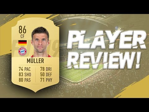 FIFA 19 - 86 RATED THOMAS MULLER PLAYER REVIEW | FIFA 19 ULTIMATE TEAM PLAYER REVIEW
