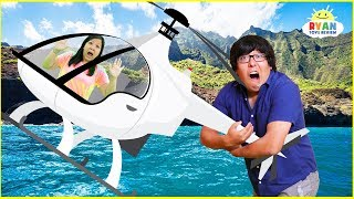 First Helicopter Ride and  Luau with Ryan's Family Review!!!