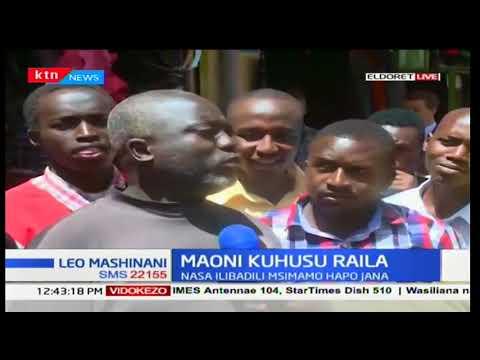 Hisia za waakazi wa kaunti ya Usain Gishu kuhusiana na kuahirishwa kwa kuapishwa kwa Raila Odinga