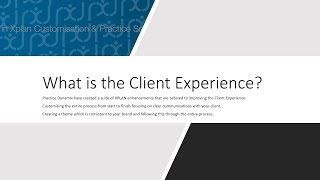 The Client Experience