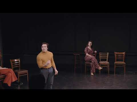 """Lorenzo Pugliese sings his UArts showcase song, """"What Do I Need With Love?"""" from Millie"""