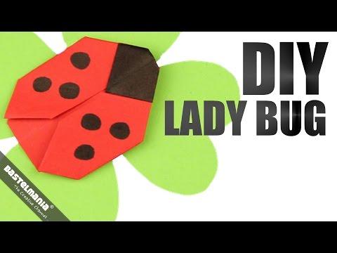 ORIGAMI Anleitung Marienkäfer Klee | DIY Origami Instructions Ladybird Beetle Luck Clover