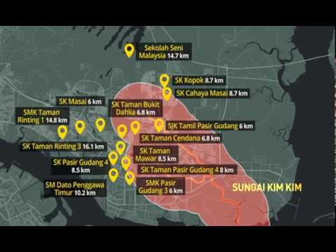 [Infografik] Pencemaran Sungai Kim Kim: Sekolah-sekolah yang terkesan di Pasir Gudang