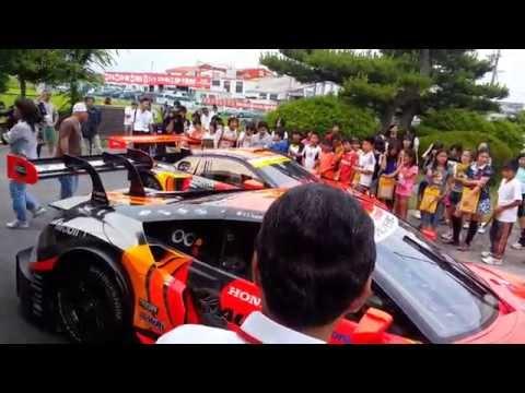 スーパーGTマシンが鈴鹿市の小学校へ...モータースポーツ課外授業