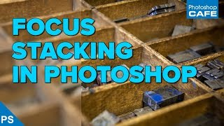 FOCUS STACKING in PHOTOSHOP to make everything in focus