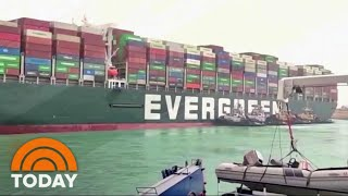 Investigators Board Ship That Blocked The Suez Canal | TODAY