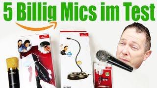 Top 5 Supergünstige Mikrofone! Lohnen sich die Dinger?