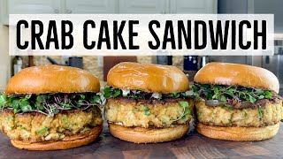 Crab Cake Sandwich- Easy Crab Cakes