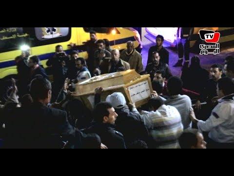 لحظة خروج جثامين ضحايا كنيسة حلوان وسط صراخ الأهالي
