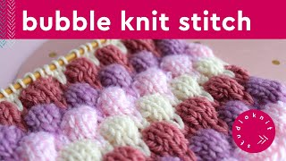 Bubble Stitch | Bobble Knitting Pattern