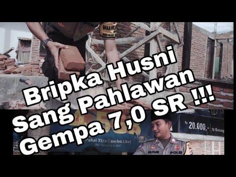 Virall !! Sosok Bripka Husni Sang Pahlawan Gempa di Kab. Sumbawa Barat