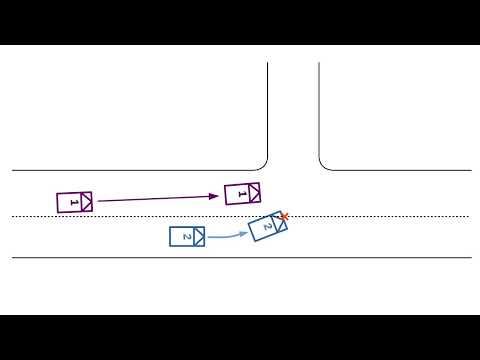 ПДД. ДТП. Обгон - Левый поворот