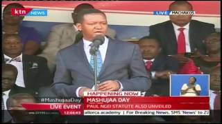 Governor Alfred Mutua's full speech during Mashujaa Day