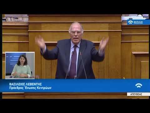Β.Λεβέντης(Πρόεδρος Ένωσης Κεντρώων)(Ψήφος εμπιστοσύνης στην Κυβέρνηση)(15/01/2019)